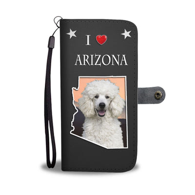 Cute Poodle On Black Print Wallet Case-Free Shipping-AZ State