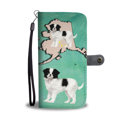 Cute Japanese Chin Print Wallet Case-Free Shipping-AK State