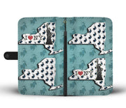 Siberian Husky Dog Pattern Print Wallet Case-Free Shipping-NY State