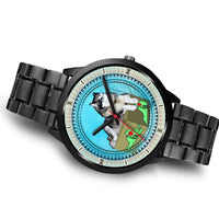 Alaskan Malamute Dog Virginia Christmas Special Wrist Watch-Free Shipping