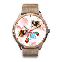 Cavalier King Charles Spaniel Alabama Christmas Golden Wrist Watch-Free Shipping