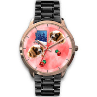 Cavalier King Charles Spaniel Arizona Christmas Golden Wrist Watch-Free Shipping