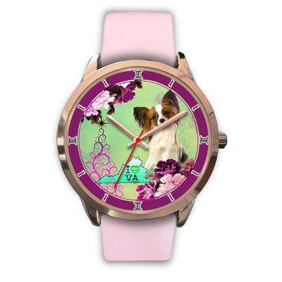 Lovely Papillon Dog Virginia Christmas Special Wrist Watch-Free Shipping