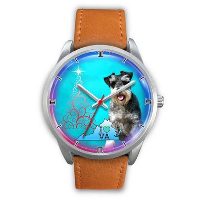 Miniature Schnauzer Dog Virginia Christmas Special Wrist Watch-Free Shipping