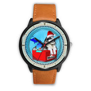 Alaskan Malamute Dog Michigan Christmas Special Wrist Watch-Free Shipping