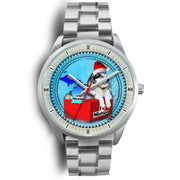 Lovely Alaskan Malamute Dog Michigan Christmas Special Wrist Watch-Free Shipping