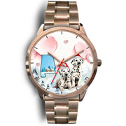 Cute Dalmatian Dog Alabama Christmas Special Wrist Watch-Free Shipping