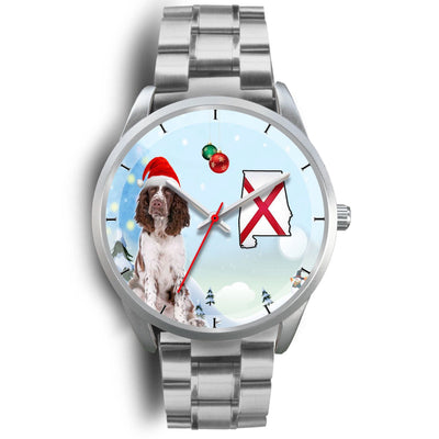 English Springer Spaniel Alabama Christmas Special Wrist Watch-Free Shipping