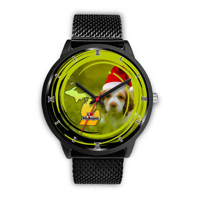 Cute Cocker Spaniel Dog Michigan Christmas Special Wrist Watch-Free Shipping