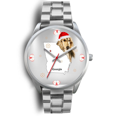 Afghan Hound Georgia Christmas Special Wrist Watch-Free Shipping