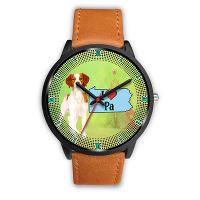 Brittany Dog Christmas Pennsylvania Christmas Special Wrist Watch-Free Shipping