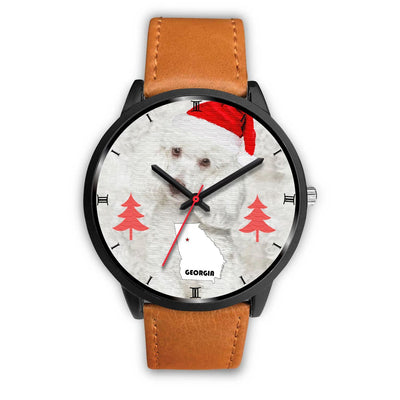 Cute Poodle Dog Georgia Christmas Special Wrist Watch-Free Shipping