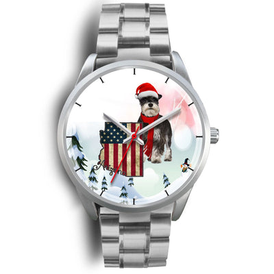 Miniature Schnauzer Arizona Christmas Special Wrist Watch-Free Shipping