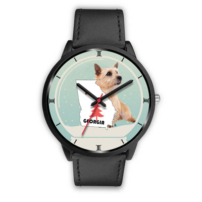 Norwich Terrier Georgia Christmas Special Wrist Watch-Free Shipping