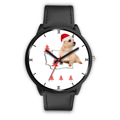 Norwich Terrier Washington Christmas Special Wrist Watch-Free Shipping