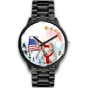 Papillon Dog Alabama Christmas Special Wrist Watch-Free Shipping