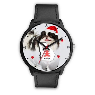 Japanese Chin Dog Georgia Christmas Special Wrist Watch-Free Shipping