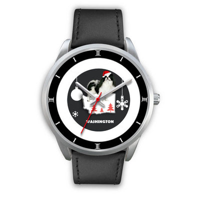 Japanese Chin Dog Washington Christmas Special Wrist Watch-Free Shipping