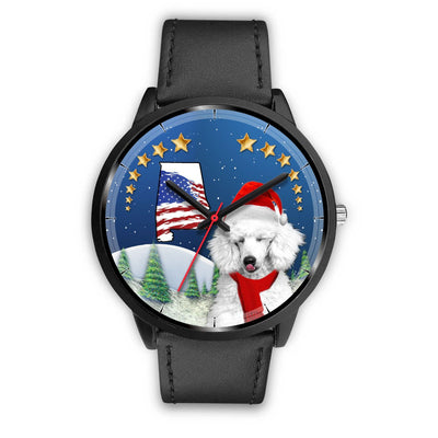 Cute Poodle Dog Alabama Christmas Special Wrist Watch-Free Shipping