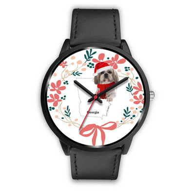 Shih Tzu Georgia Christmas Special Wrist Watch-Free Shipping