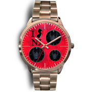 German Shepherd Dog On Red New Jersey Christmas Special Wrist Watch-Free Shipping
