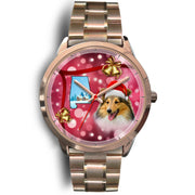 Shetland Sheepdog Alabama Christmas Special Wrist Watch-Free Shipping