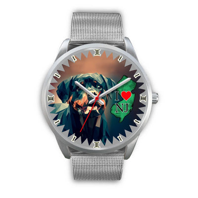 Amazing Rottweiler Dog Art New Jersey Christmas Special Wrist Watch-Free Shipping