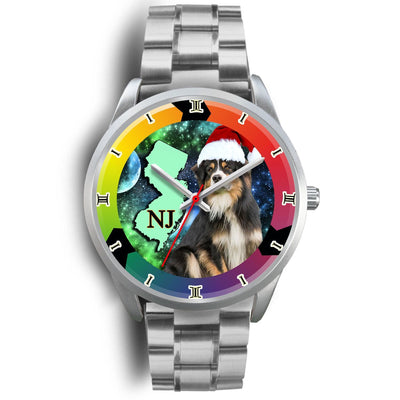 Lovely Australian Shepherd Dog New Jersey Christmas Special Wrist Watch-Free Shipping