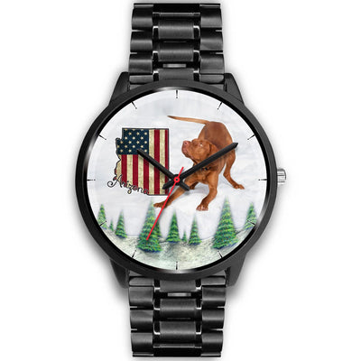 Cute Vizsla Dog Arizona Christmas Special Wrist Watch-Free Shipping