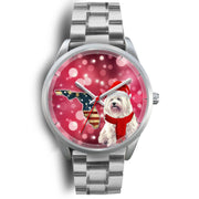 Havanese Dog Florida Christmas Special Wrist Watch-Free Shipping