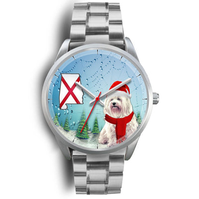Cute Havanese Dog Alabama Christmas Special Wrist Watch-Free Shipping