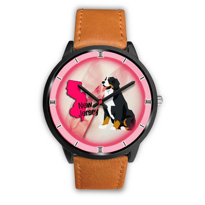 Bernese Mountain Dog Art New Jersey Christmas Special Wrist Watch-Free Shipping