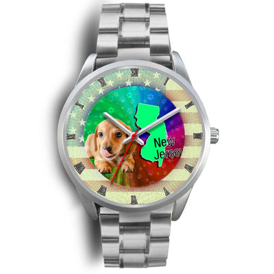 Dachshund Puppy New Jersey Christmas Special Wrist Watch-Free Shipping