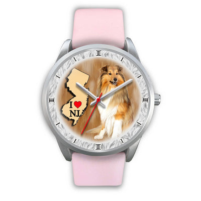 Graceful Shetland Sheepdog New Jersey Christmas Special Wrist Watch-Free Shipping