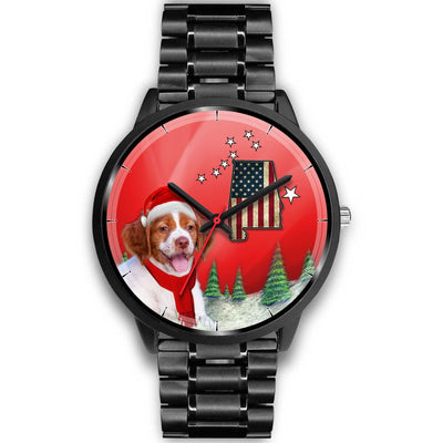 Brittany Dog Alabama Christmas Special Wrist Watch-Free Shipping