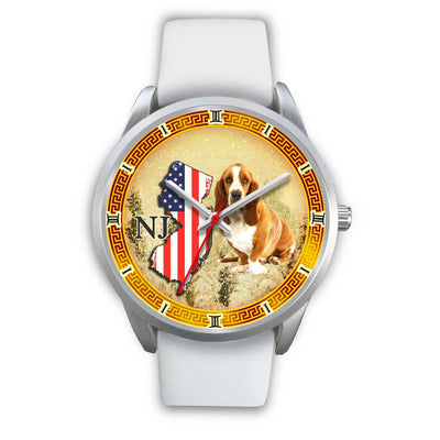 Basset Hound New Jersey Christmas Special Limited Edition Wrist Watch-Free Shipping