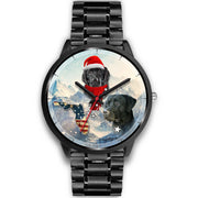 Black Labrador Retriever Florida Christmas Special Wrist Watch-Free Shipping