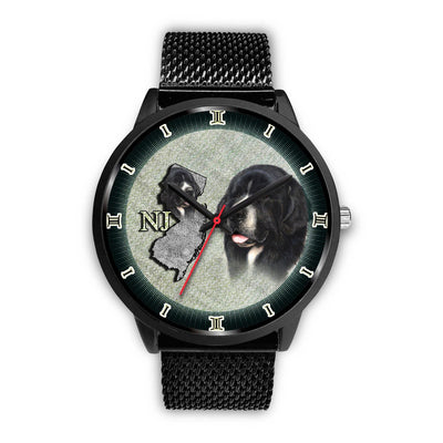 Newfoundland Dog Sketch New Jersey Christmas Special Wrist Watch-Free Shipping