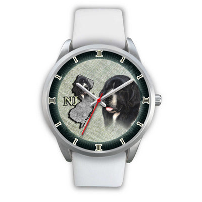 Amazing Newfoundland Dog Sketch New Jersey Christmas Special Wrist Watch-Free Shipping