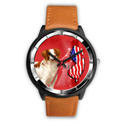 Cheerful Brittany Dog New Jersey Christmas Special Wrist Watch-Free Shipping