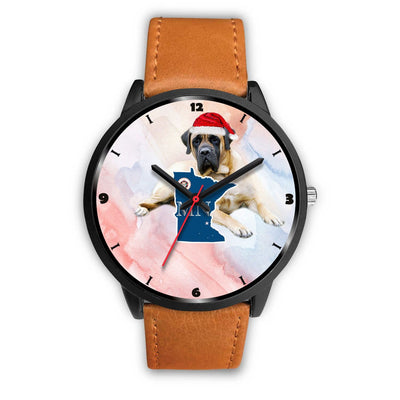 English Mastiff Dog Minnesota Christmas Special Wrist Watch-Free Shipping