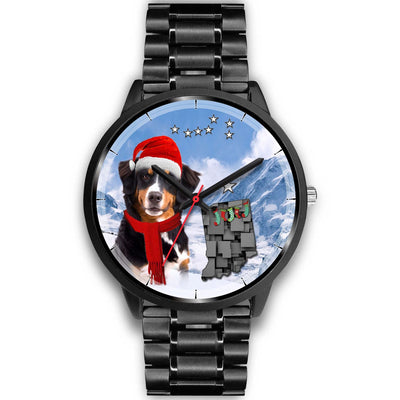 Bernese Mountain Dog Indiana Christmas Special Wrist Watch-Free Shipping