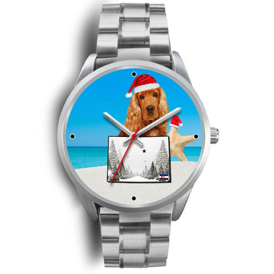 Cocker Spaniel Colorado Christmas Special Wrist Watch-Free Shipping