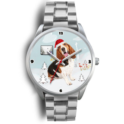 Basset Hound Colorado Christmas Special Wrist Watch-Free Shipping