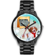 Brittany Dog Iowa Christmas Special Wrist Watch- Free Shipping