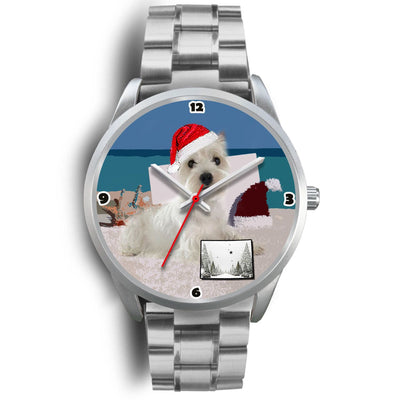 West Highland White Terrier Colorado Christmas Special Wrist Watch-Free Shipping