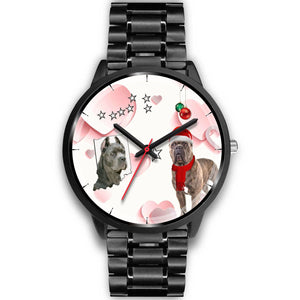 Cute Cane Corso Indiana Christmas Special Wrist Watch-Free Shipping