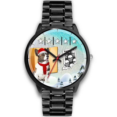 Cardigan Welsh Corgi Indiana Christmas Special Wrist Watch-Free Shipping