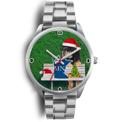 Tibetan Mastiff Minnesota Christmas Special Wrist Watch-Free Shipping