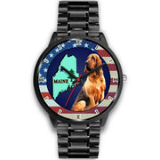 Bloodhound Dog Maine Christmas Special Wrist Watch-Free Shipping
